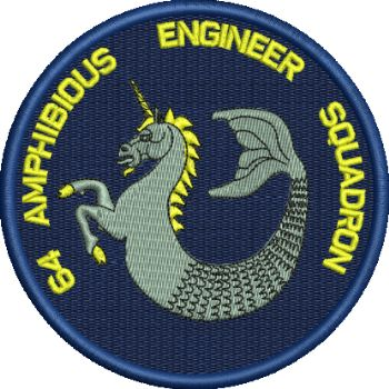 64 AMPH ENGR SQN Circular Embroidered badge